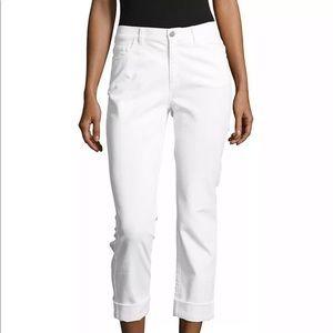 Lafayette 148 White Cotton DALIA Ankle Jean 2